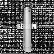 Дымоход Феррум нержавеющий (430/0,5 мм) ф115 L=0,5м