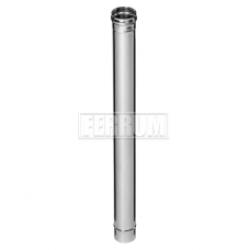 Дымоход Феррум нержавеющий (430/0,8 мм) ф120 L=1,0м