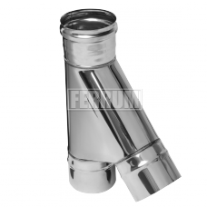 Тройник Феррум угол 135°, нержавеющий (430/0,8мм), ф150