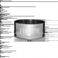 Заглушка Феррум П внутренняя нержавеющая (430/0,5 мм), ф280, с конденсатоотводом