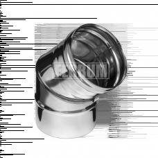 Колено Феррум угол 135°, нержавеющее (430/0,5 мм), ф115