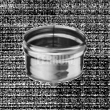 Заглушка Феррум М внешняя нержавеющая (430/0,5 мм), ф115  с конденсатоотводом