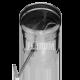 Заслонка Феррум (шибер поворотный) нержавеющая (430/0,8мм), ф120