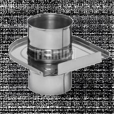 Задвижка Феррум (шибер выдвижной) нержавеющая (430/0,8мм), ф120