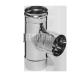 Тройник Феррум угол 90°, нержавеющий (430/0,8мм), ф115