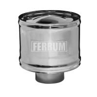 Зонт Феррум нержавеющий (430/0,5 мм), ф130, с ветрозащитой