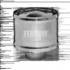 Зонт Феррум нержавеющий (430/0,5 мм), ф120, с ветрозащитой